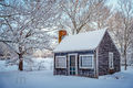 Byfield, Gardeners Shed, Snow,Winter, New England