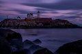 Nubble Light, lighthouse, New England, Maine, Sunset, Purple, Coast