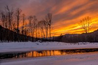 Vermont, Stockbridge, VT, river, sunset, New England