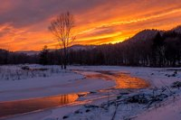 vermont, sky, New England, sunset, weather,