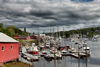 Clouds, Cloudy, Camden, Maine, Harbor, Boats, New England