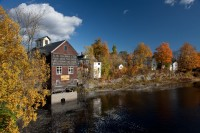 Piscataquis River, Dover-Foxcroft, Maine, New England, foliage, Fall