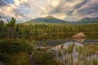Mt. Katahdin, Katahdin, Sandy Stream Pond, Pond, Baxter State Park, Maine, New England