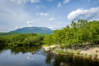 Penobscot River, Mt Katahdin, Millinocket, ME, New England