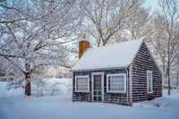 Snow, new england, shed, massachusetts, essex county