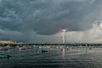 Storm, newburyport, new england, coast, lighning