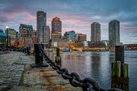 Boston, Massachusetts, New England, Skyline, Dusk, Sunset, New England Photo Workshops