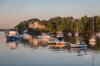 Sunrise, Scenic, Harbor, Landscape, New England, Lobster Boats, Boats