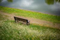 Clouds, Newburyport,The Bench, seat, New England, waiting, fine art