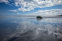 Lynn Beach, ocean, clouds, sky, New England, rock