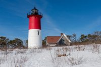 Cape Cod,Snow, new england, lighthouse, Nauset