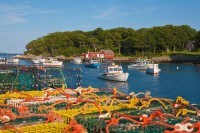 New Harbor, Maine, New England, Boats, Harbor, Buoys, Fishing Boats