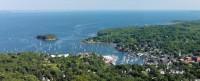 Camden, Maine, Mt. Battie View, Camden Harbor, Harbor, Panorama, New England