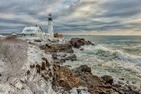 Lighthouse,Maine,Portland Head, New England