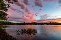 Storms, clouds, pond, New England