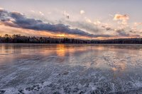 Sunset, ice, windy, Massachusetts, New England, cold