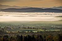 NEK, Northeast Kingdom Of Vermont, Fog, Sunrise. New England, New England Photo Workshops