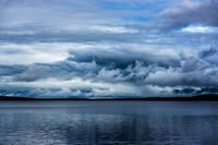 New England, Schoodic Lake, Maine, Brownville, clouds, rain, weather, drama
