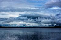 New England, Schoodic Lake, Maine, Brownville, clouds, rain, weather, drama