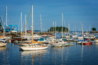 Maine, harbor, sunset, mid-coast, coast, New England
