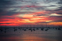 Maine, Harbor, sunrise, sky, clouds,water, mid coast, New England
