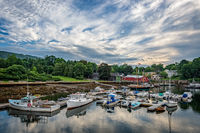 Maine, New England, clouds, harbor, sky, clouds