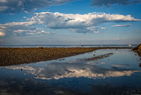 Maine, Lincolnville, Beach, sky, clouds, New England, Mid-Coast Maine,