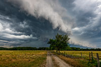 Storms, clouds, sky, dirt road, weather, rain, wind