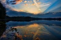 Sunrise, Lower Togue Pond, Togue Pond, Pond, Baxter State Park, Maine, New England, nature