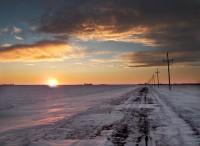 Sunset In Grand Forks North Dakota