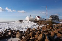 Winter, Storm, Eastern Point, Eastern Point Lighthouse, Lighthouse, Massachusetts, Gloucester, New England