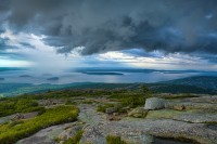 Cadillac Mountain in Acadia NP, storm, cloud, New England Photo Workshops