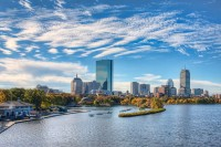 Charles River, Boston skyline, Boston, MA