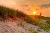 Plum Island, Newburyport, MA, sand, beach, sunset, sky