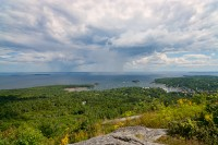 Top of Mount Battie in Camden, Maine,Penobscot Bay