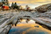 Lighthouse, Pemaquid, Coast, New England, Scenics,sunrise