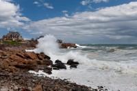Waves At Gloucester, Morning, evening storm