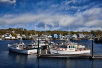 Gloucester, Massachusetts, New England, Boats, Clouds, Lobster Boats