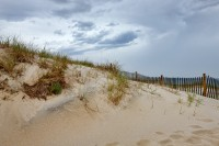Cape Cod, beach, sand, fence, MA, Massachusetts