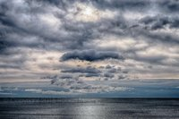 ocean, atlantic ocean, sky, clouds, new england