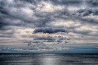 ocean, atlantic ocean, sky, clouds, new england