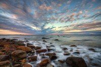 Penobscot Bay,Sunset, Maine, HDR,