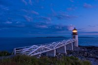 Samoset, blue hour, lighthouse, Maine, coast, New England