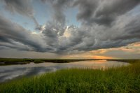 Storm, clouds, New England, coast, scenic, landscape