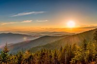 Smoky Mountains, sunset, clouds,
