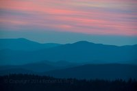 Great Smoky Mountain National Park, sunset, colors, blue hour