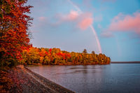 Camp, Schoodic lake, rainbow, maine, new england, weather, rain