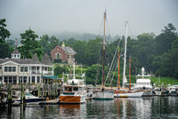 Maine, morning, harbor, mid-coast, coast, boats, new england