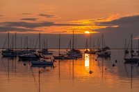 Samoset, Sunrise, Rockland, Atlantic, ocean, New England, boats