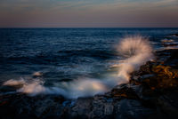 Maine, Maine Coast, Mid-Coast, NEPW, Pemaquid,lighthouse,waves,splash,coast,rocks